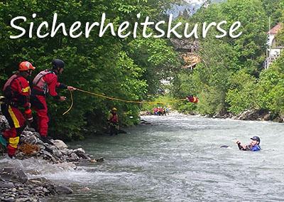 Paddel-Sicherheitskurse mit der Kanuschule-Schweiz